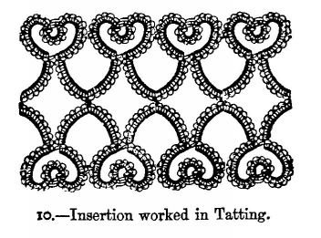 Insertion worked in Tatting.