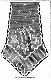 Cravat End in Embroidery.