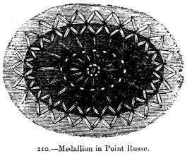 Medallion in Point Russe.