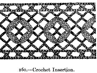 Crochet Insertion.