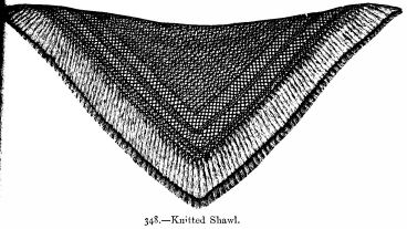 Knitted Shawl.