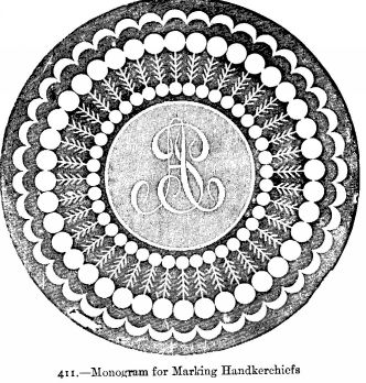 Monogram for Marking Handkerchiefs