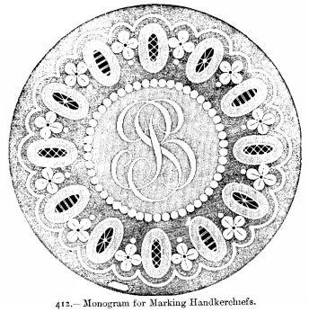 Monogram for Marking Handkerchiefs.