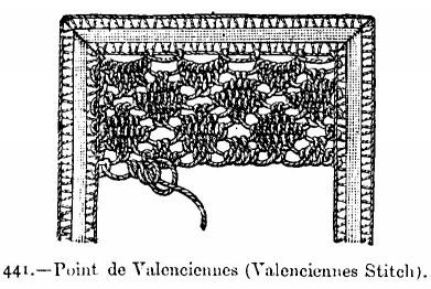 Point de Valenciennes (Valenciennes Stitch).
