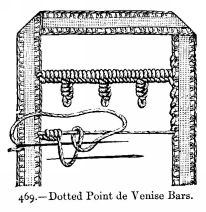 Dotted Point de Venise Bars.