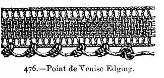 Point de Venise Edging.