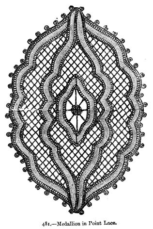 Medallion in Point Lace.