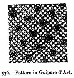 Pattern in Guipure d'Art.