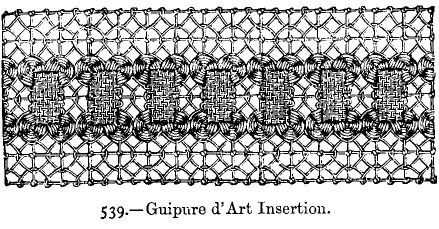 Guipure d'Art Insertion.