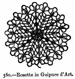Rosette in Guipure d'Art.