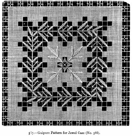 Guipure Pattern for Jewel Case (No. 566).
