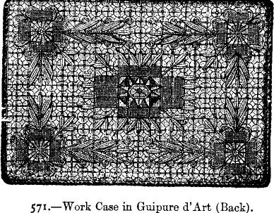 Work Case in Guipure d'Art (Back).