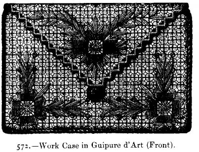 Work Case in Guipure d'Art (Front).